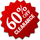 Clearance - 60% Off